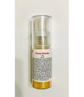 Colorante alimentare spray pump-powder ORO gr.10 (glutenfree) solchim