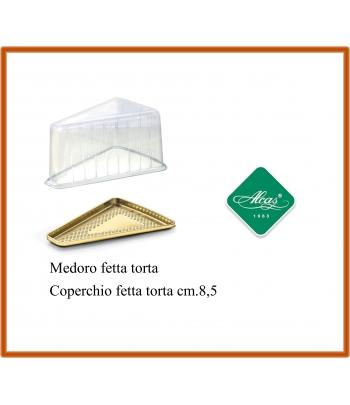 fetta torta + coperchio medoro monoporzione oro pz.50 alcas