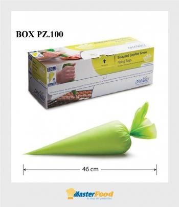 Sac à poche verde antiscivolo pz.100 pipingbags misura M cm.46x26 wed