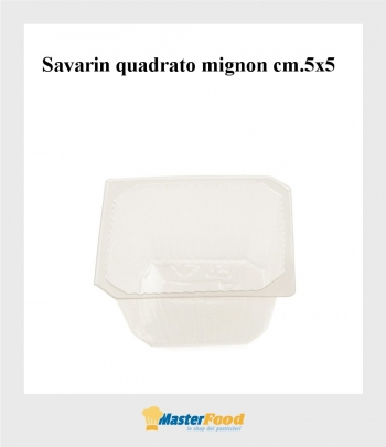 Pirottini savarin mignon quadrato (cm.5x5) martypack