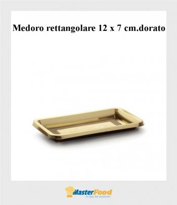 Monoporzione rettangolare cm.12 x 7 oro (pz.100) Alcas