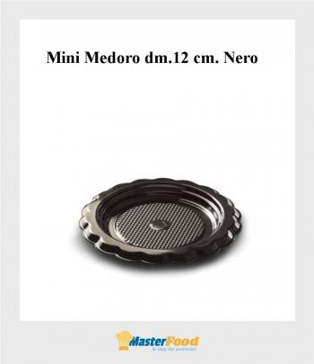 Monoporzione Mini Medoro dm.12 cm. Nero (pz.100) Alcas
