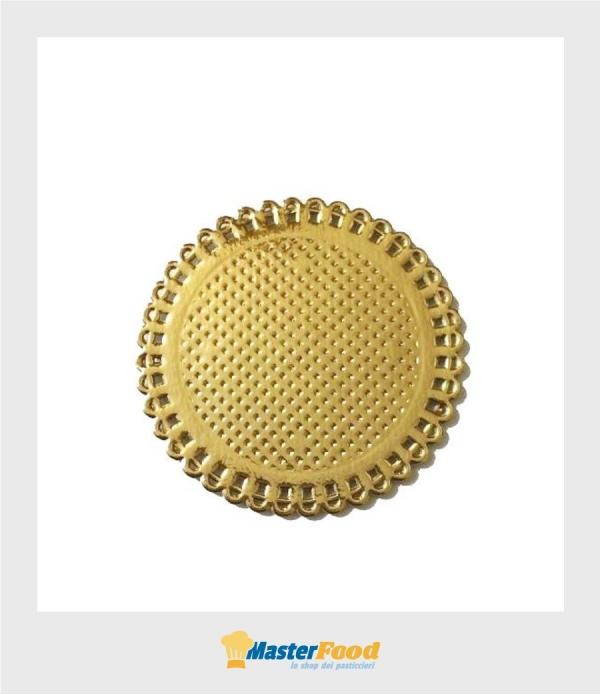 Monoporzione Pizzi in cartoncino tondo dm.7 cm. oro (confezione pz.50) Novaservice