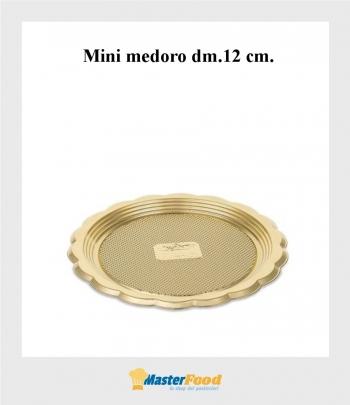 Monoporzione mini medoro dm.12 cm. oro (pz.100) Alcas