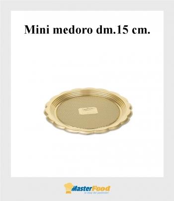Monoporzione mini medoro dm.15 cm. oro (pz.100) Alcas