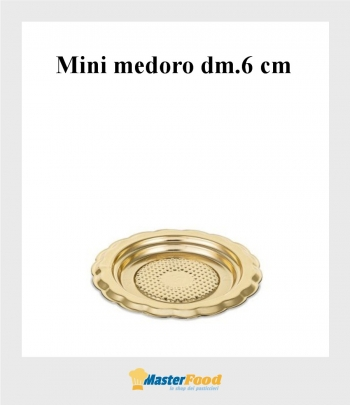 Monoporzione mini medoro dm.6 cm. oro (pz.100) Alcas