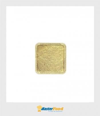 Monoporzione Pizzi in cartoncino Quadrato cm.11 x 11 oro (confezione pz.50) Novaservice