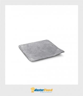 Vassoio STONE grigio cm.20x20 (pz.10) Alcas