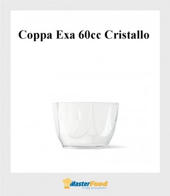 Coppa Exa 60cc trasparente (pz.60) Alcas