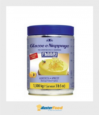 Glassa a specchio ALBICOCCA nappage kg.1,500 (glutenfree) Fabbri