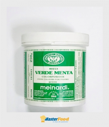 Colore in polvere Verde menta gr.250 Meinardi