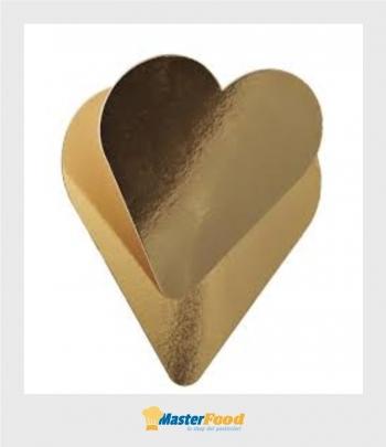 Piatto cuore grande oro sottotranche Novaservice