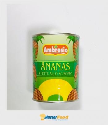 Ananas sciroppo 10 fette gr.567 Ambrosio