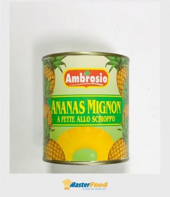 Ananas sciroppate mignon 30/33 fette gr.830 Ambrosio