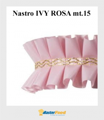 Nastro giro torta ivy ROSA mt.15