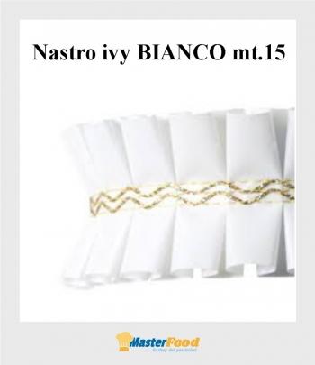 Nastro ivy Bianco giro torta mt.15