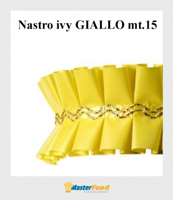Nastro giro torta ivy GIALLO mt.15