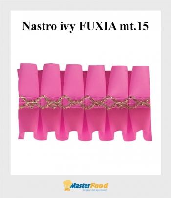 Nastro ivy FUXIA giro torta mt.15