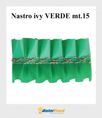Nastro ivy VERDE giro torta mt.15