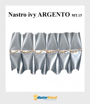 Nastro ivy ARGENTO giro torta mt.15