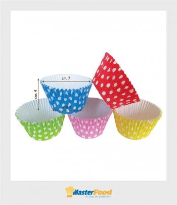 Pirottino Cupcake pois da forno assortiti pz.135