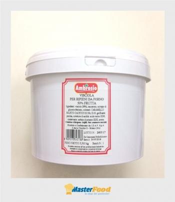 Visciola per ripieni da forno 50% frutta kg.5.500 Ambrosio
