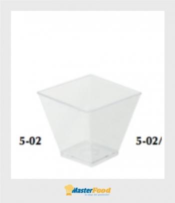 Bicchiere quadrato piccolo cc.60 trasparente pz.50
