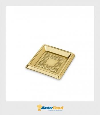 Monoporzione medorino quadrato cm.6,5 x 6,5 oro (pz.100) Alcas