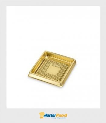 Monoporzione medorino quadrato cm.5,1 x 5,1 oro (pz.100) Alcas
