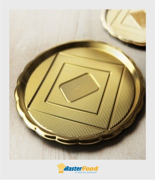 Vassoio medoro diametro 26 cm. oro Alcas