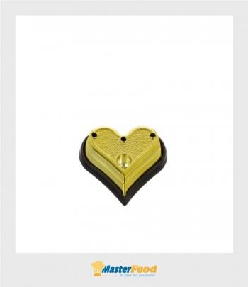 Basi cuore oro (cartone 10 buste da pz.10) Alcas