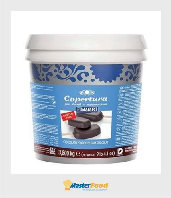 Copertura stecco cioccolato fondente kg.3,800 (glutenfree) Fabbri