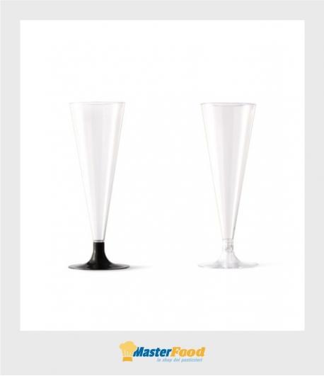 Bicchieri Flute + gambo (cristal o nero) pz.48 Alcas