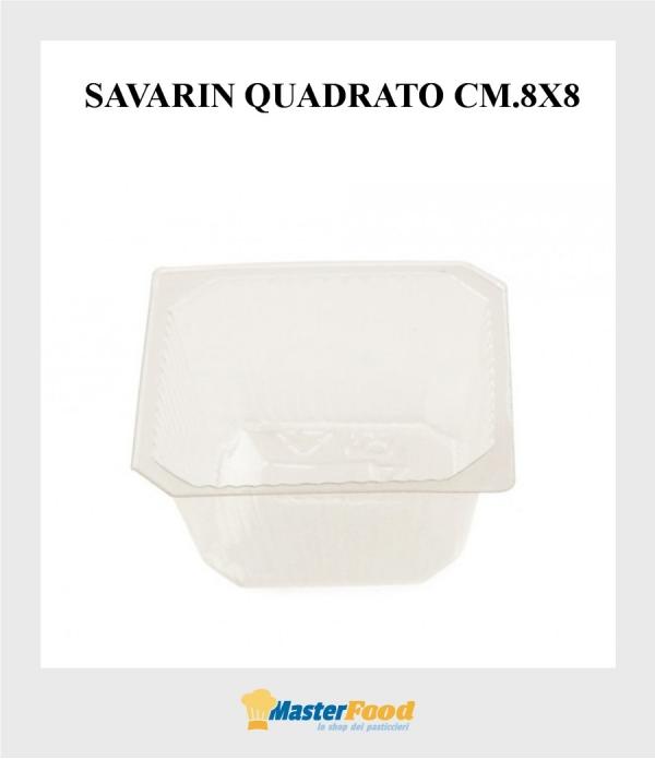Pirottini savarin quadrato grande (cm.8x8) pz.420 Martypack