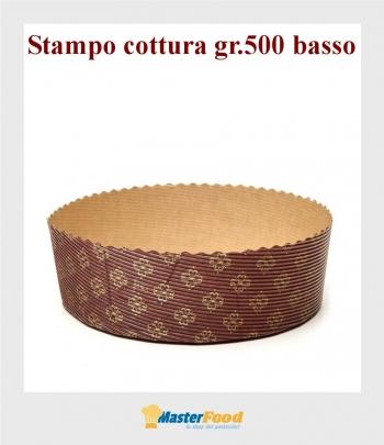 Stampo da cottura panettone basso gr.500 (fila da pz.90)