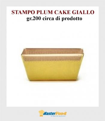 Stampo da cottura PLUM CAKE GIALLO gr.200 in carta micronda