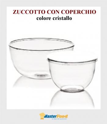 Zuccotto con coperchio gr.1000 colore cristallo pz.25