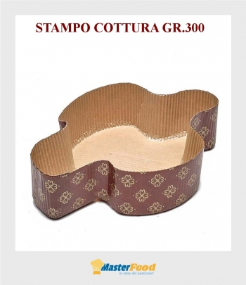 Stampo da cottura Colomba gr.300 in carta micronda Novaservice