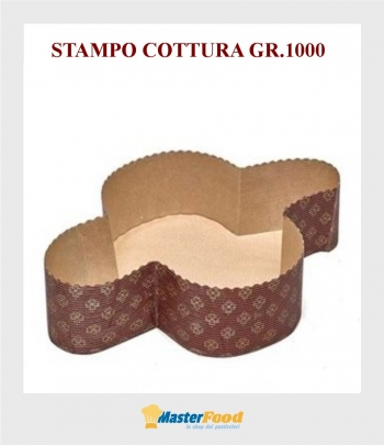 Stampo da cottura Colomba gr.1000 in carta micronda Novaservice