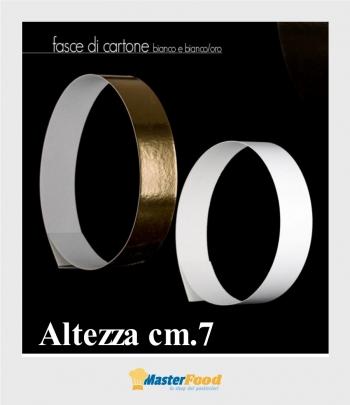 Fascia dorata larga di cartone cm.7 (conf.2 pz.) kg.10