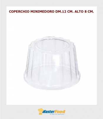 Coperchio minimedoro 12 dm.12 cm. alto 8 cm. (pz.50)