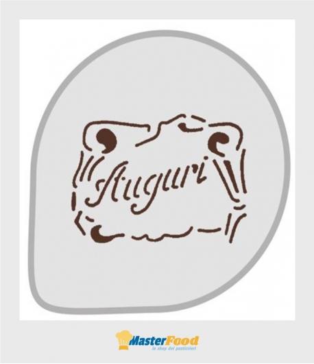 Stencil per torte Auguri (mask67) Martellato