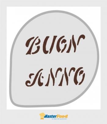 Stencil per torte Buon anno (mask 32) Martellato