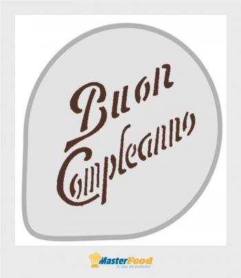 Stencil per torte Buon compleanno (mask43) Martellato
