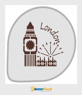 Stencil per torte Londra (mask304) Martellato
