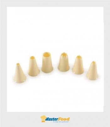 Bocchette decorative in plastica (set misto n.6 pezzi) Martellato