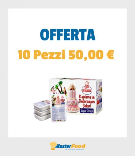 Pasta Di Zucchero Bianca - Offerta 10 pezzi