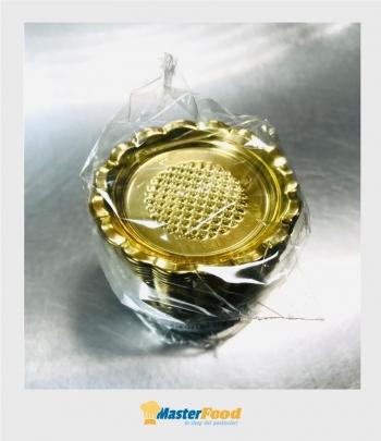 Monoporzione Tonda dm 6,5 cm. oro pz.100 Martypack