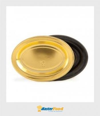 Monoporzione ovale Piccolo cm.6x4 oro pz.100 Martypack