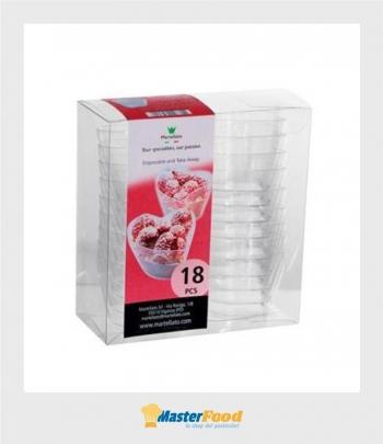 Bicchierino Love scatola pvc pz.18 Martellato